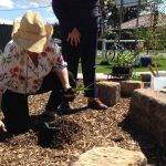 Tree planting at Forrester Reserve raingarden