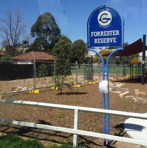Forrester Reserve raingarden