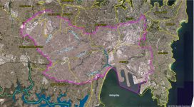 Map of Cooks River Catchment Scoping Study Area
