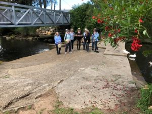 Inspecting the Turella Weir on Wolli Creek