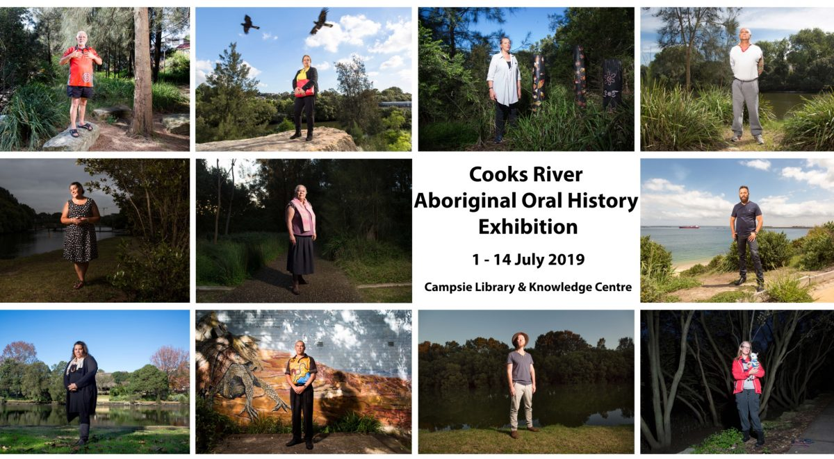 11 portraits of Aboriginal people with a lived connection to the Cooks River